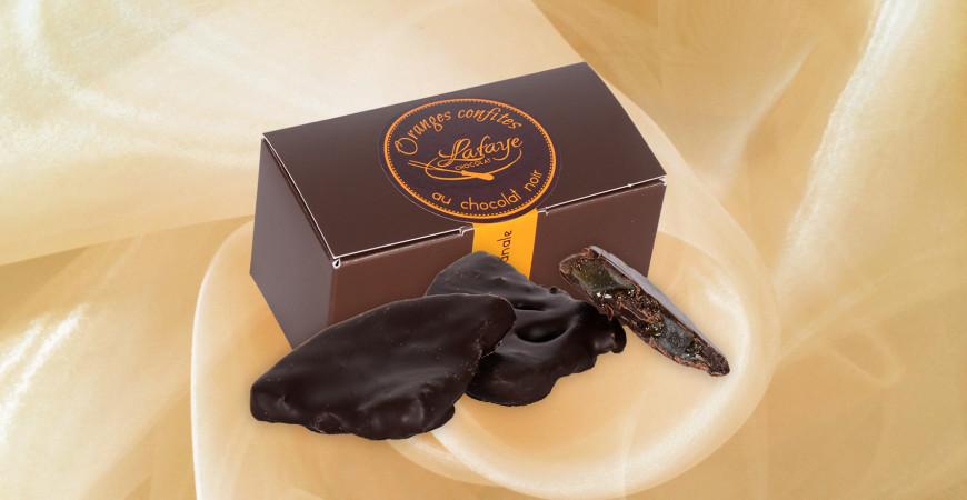 Oranges confites chocolat noir