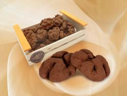 Cagette 300g Noix enrobés de chocolat noir